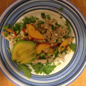 Cilantro, Lime and Cumin Chicken Salad with Stone Fruit
