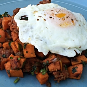 Pork Chorizo & Sweet Potato Hash